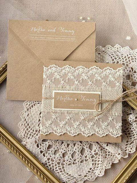 24 ไอเดียจากกระดาษน้ำตาล ตกแต่งงานแต่งงานสุดอบอุ่น