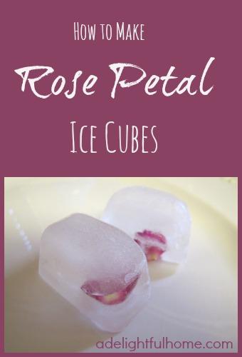 Rose-petal-ice-cubes