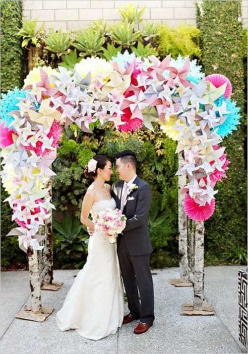 หลายไอเดียกับการตกแต่งงาน Wedding ด้วย Origami