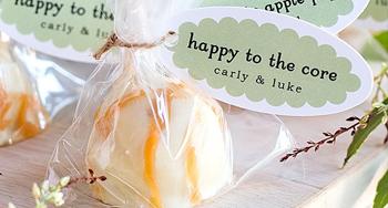 แอปเปิ้ลชุบช็อกโกแลตขาว ของหวานงานแต่ง ดัดแปลงเป็นของชำร่วยได้