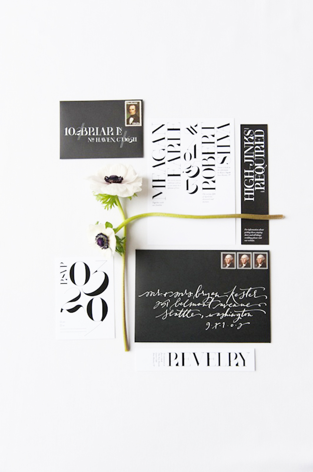 minimalist-wedding-invite-black-and-white