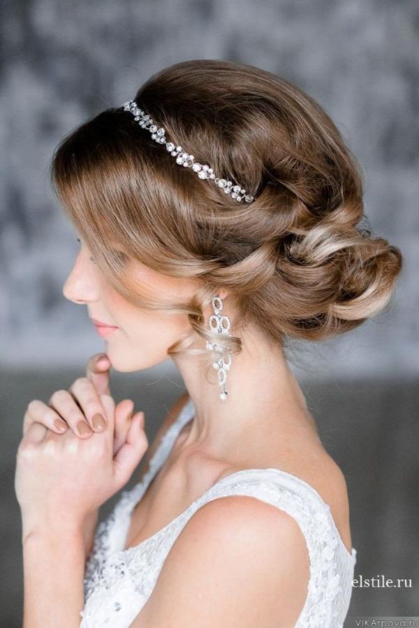 elegant-updo-wedding-hairstyles-with-crystal-bridal-headpieces